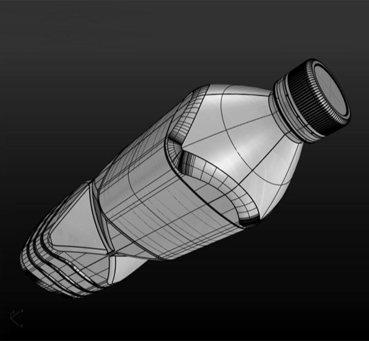 visuel représentant une représentation 3D d'un pack bouteille #branding