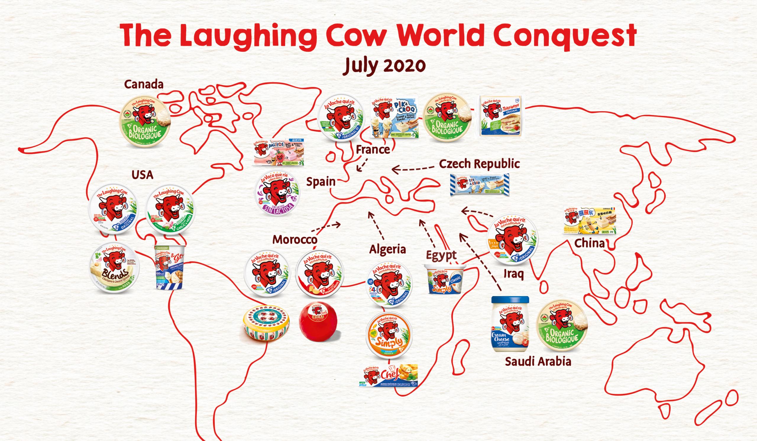 la vache qui rit monde